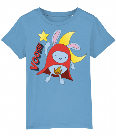 Hoppity Voosh Azur Blue Unisex Kids Tshirt from Bing